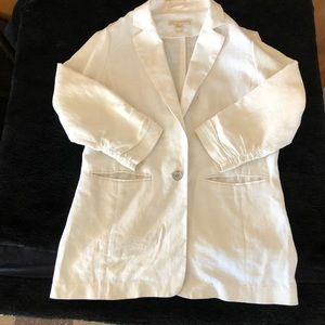 Michael kors ivory cream linen blazer new Sz 8 new